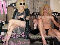 裸照曝光老肉橫飛 瑪丹娜修圖太過形象難挽回