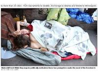 「占領華爾街」上演性愛秀 示威者吸毒、對警車拉屎