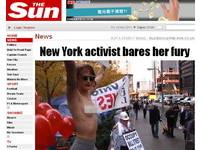 紐約趁亂吸睛 裸女抗議母親被解雇