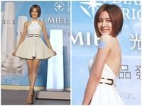安心亞穿白色洋裝美美的 轉身一看…咦?裡面沒穿內衣