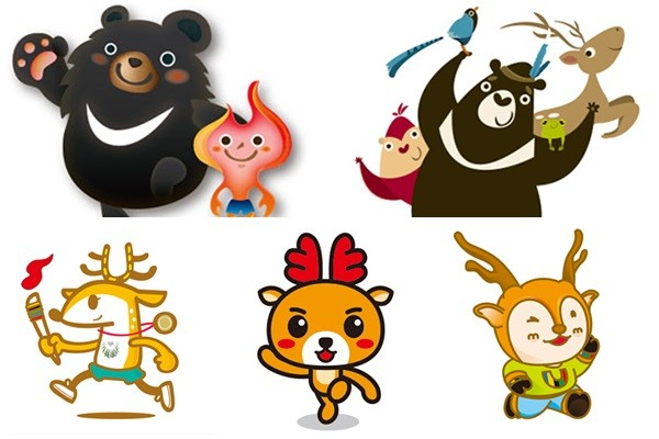 ▲世大运吉祥物设计,梅花鹿比黑熊热门.(图/台北市政府提供)-最