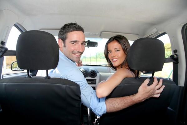 情侶,開車
