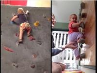 有其母必有其女!母是極限好手 女嬰出生8個月就會攀岩