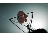 穿內褲上陣 重慶男綁11氣球飛42公里