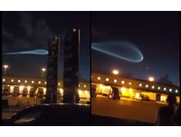 網友瘋拍幽浮泡泡!黎明前發射火箭 意外創造奇幻異象