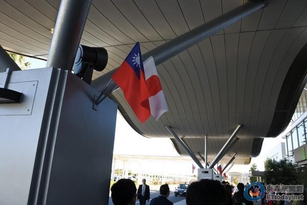 旅日台侨挥舞中华民国国旗热情欢迎 蔡英文:很