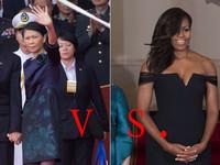 第一夫人比「衣」比 美青愛低調、蜜雪兒事業線也得體