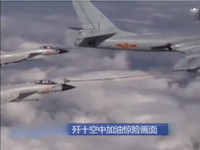 離海面僅數十公尺 殲10戰機驚險「空中加油」!
