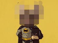 卡通人物換臉秀 原來蝙蝠俠不肯脫下面罩是有原因的!