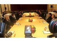 馬習會長桌會議,兩岸領導人會議,馬英九,習近平。(圖/馬習會採訪團提供)