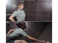 女F4劉樂妍穿軍服「掛階」深蹲撿肥皂 憲兵約談做筆錄