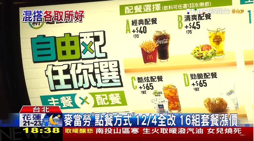 麥當勞點餐大改版 先點主餐、再選配餐...16組套餐漲價!