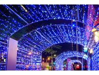 10萬顆LED燈泡的夢幻光之廊道 創南京東路最美街景