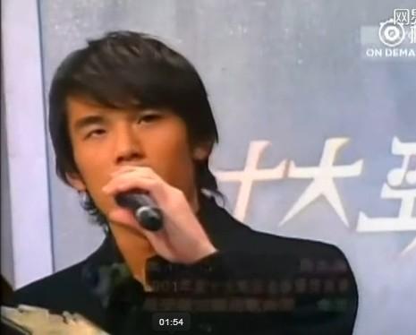 ▲刘德华、王力宏和周杰伦2001年一起参加颁奖典礼的画面曝光.(图图片