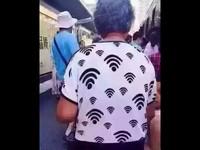 請問歪壞密碼?可愛嬤衣服「WIFI訊號滿格」被網友推爆