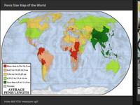 特殊世界地圖!那話兒尺寸和胸部罩杯 最小的都在亞洲