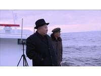 距海面40米處燃燒噴發 金正恩巡視飛彈試射「笑開懷」