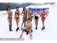 零下10度穿比基尼在青島滑雪 7名模特兒「美麗凍人」