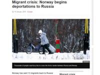 難民數量不堪負荷 挪威遣返數千移民至俄羅斯