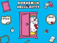 好想要收藏~哆啦A夢與Kitty貓王妃相遇的瞬間!
