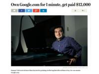 谷歌大拍賣?他以400元買下「Google.com」竟賺回40萬