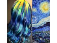 秀髮就是畫布! 超強美髮師染出《星夜》《吶喊》髮