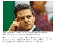 墨西哥型男總統候選人裴納尼托 支吾答不出最愛書名