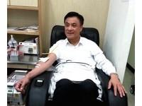 救助南台灣地震 蘇嘉全捐70萬再捲袖捐血