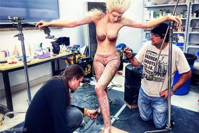 女妖裸上妝!《西遊記》幕後公開