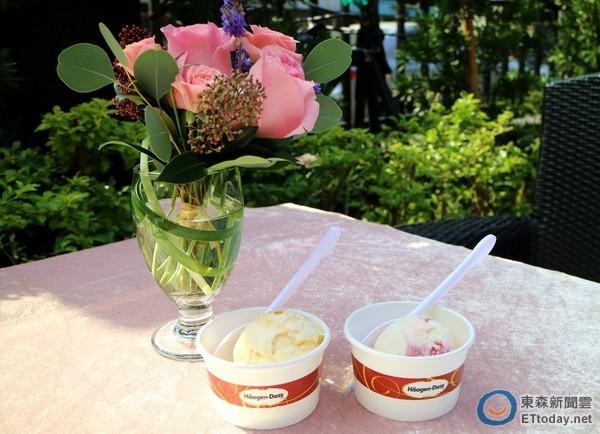 häagen-dazs花香口味冰淇淋,玫瑰荔枝覆盆子与杏桃薰衣草,迷你