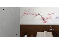 不小心把墨汁灑牆上! 他將醜醜黑點畫成樹被網友讚翻