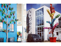 手作3500個七彩鳥屋 丹麥藝術家:讓都市的飛鳥有個窩