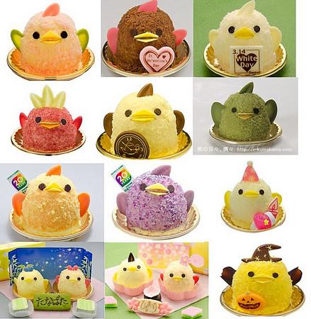 你捨得吃嗎?名古屋必吃甜點 超卡哇伊小雞布丁蛋糕