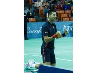 網球/喬帥秀肌肉、展現模仿天份 表演賽掀起高潮