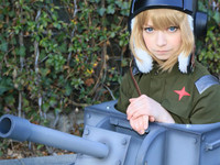 AnimeJapan 會場中乍見最標準的《少女戰車》Cosplay!