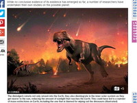 神秘「X行星」牽引彗星雨撞地球 恐龍因此滅絕?