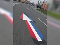 下國道「紅藍白箭頭」加速用? 這個角度變立體有警示
