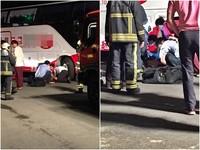北投遊覽車倒退停車沒注意 「烤肉女」遭壓腿卡車底