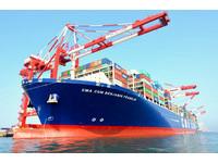 長度超越85大樓 「班傑明富蘭克林」貨櫃輪首航高雄港