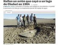 阿根廷驚現51年前失蹤的飛機殘骸 湖水蒸發卡在泥濘中
