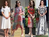 凱特王妃造訪印度入境隨俗 圖騰印花上身顯時尚品味