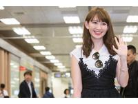 直擊/AKB美胸女王抵台!小嶋陽菜下飛機先幫粉絲簽名