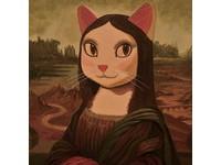 「貓」娜麗莎?貓咪版世界名畫  「喵」不可言
