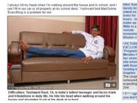 14歲就暴長200公分 印度少年吶喊「想交速配女友!」