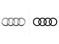 「奧迪」標誌改走時尚風 扁平化設計成主流