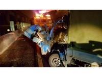 國道追撞翻車3傷 菜販夫婦10分鐘後撞上雙亡
