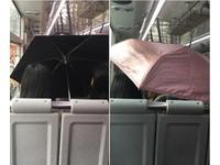 防曬措施超周全! 兩女搭公車「撐傘」躲太陽
