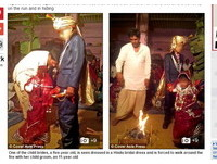 恐怖童婚!印度5歲小新娘被逼拜堂 放聲狂哭大人不管