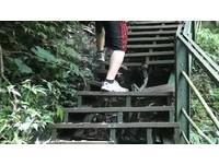 觀音瀑布階梯斷裂 「連跨3階」登高大考驗