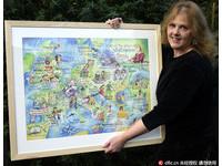 莎士比亞同鄉! 女藝術家繪「莎劇地圖」紀念逝世400年